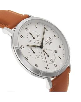 Rm319ex9 Men's Chronograph Date Leather Strap Watch