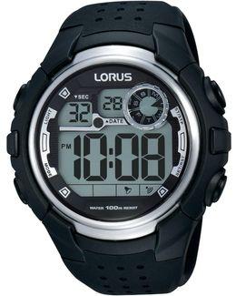 R2385kx9 Men's Digital Day Date Silicone Strap Watch