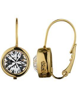 Dyrberg/kern Louise Crystal French Hook Drop Earrings