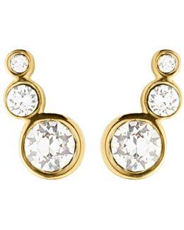 Dyrberg/kern Small Swarovski Crystal Stud Earrings