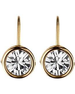 Dyrberg/kern Swarovski Crystal Hook Earrings