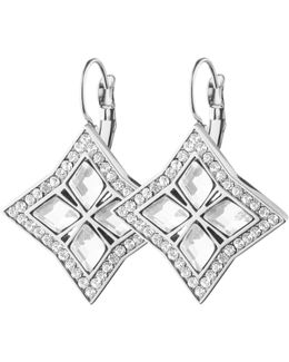 Dyrberg/kern Crystal Square Hook Drop Earrings