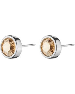 Dyrberg/kern Solitaire Swarovski Crystal Round Stud Earrings