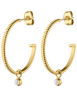 Swarovski Stud Hoop Earrings