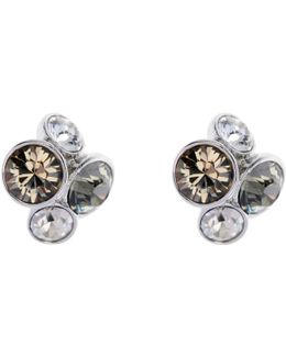 Lynda Swarovski Crystal Cluster Stud Earrings