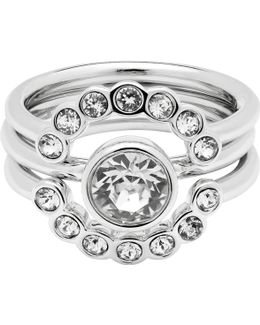 Cadyna Concentric Crystal Ring