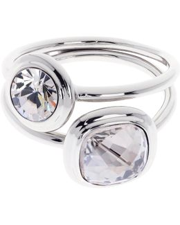 Milano Swarovski Crystal Double Ring
