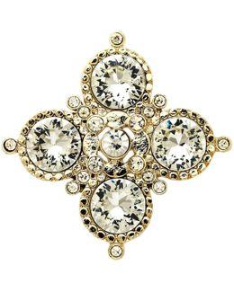 Crystal Medal Brooch