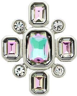 Vitrail Glass Crystal Brooch