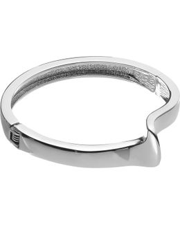 Curved Detail Hinged Bangle