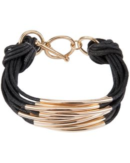 Multi Strand Tube Layered Bracelet
