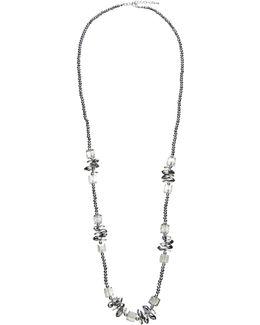 Long Single Strand Sparkle Bead Necklace