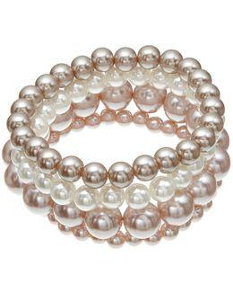 Multi Row Faux Pearl Bracelet