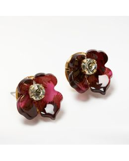 Abstract Flower Stud Earring