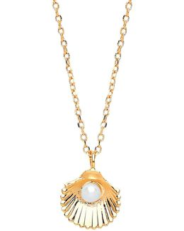 Shell Freshwater Pearl Pendant Necklace