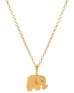 Gold Plated Good Luck Elephant Necklace