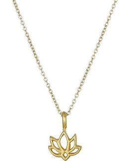 New Beginnings Happy Lotus Reminder Pendant Necklace
