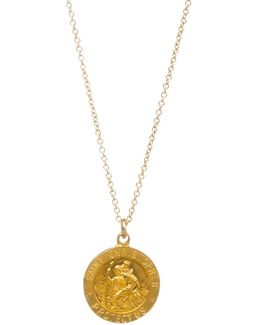 St Christopher Reminder Pendant Necklace