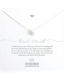 Bridal Large Pearl Bridesmaid Reminder Necklace