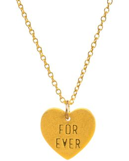 For Ever Heart Pendant Necklace