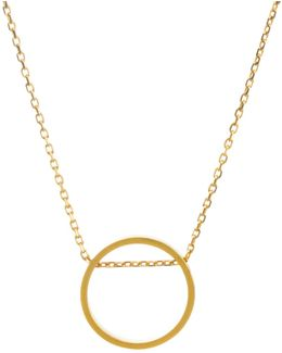 Circle Open Sliding Ring Necklace