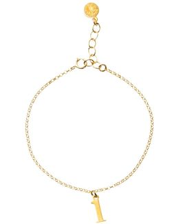 14ct Gold Plated Sterling Silver Love Letter Chain Bracelet