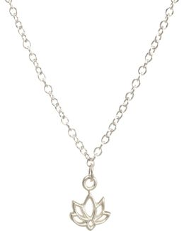 Sterling Silver Happy Lotus Choker Necklace