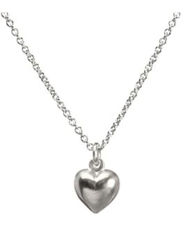 Love Puffy Heart Pendant Necklace