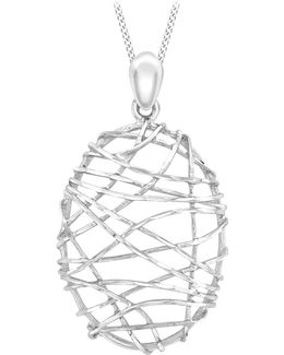 9ct White Gold Candy Cage Pendant