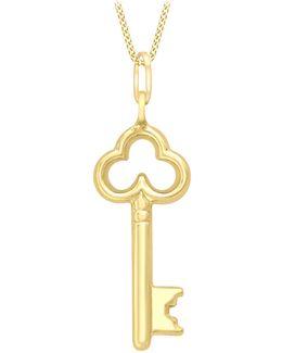 9ct Gold Key Charm Pendant