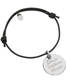 Sterling Silver Personalised Disc Bracelet