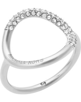Open Circle Crystal Pavé Ring
