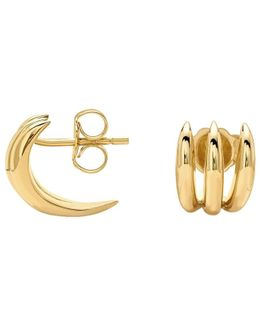 18ct Gold Vermeil Claw Stud Earrings