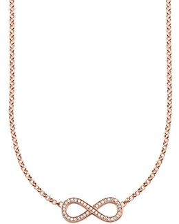 Glam & Soul Infinity Pave Necklace