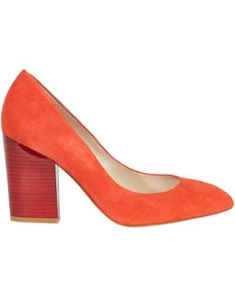 Almond Toe Block Heeled Court Shoes