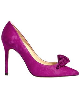 Frill Stiletto Heeled Court Shoes