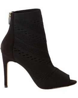 Knitted Stiletto Heeled Shoe Boots