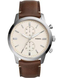 Fs5350 Men's Townsman Chronograph Leather Strap Watch