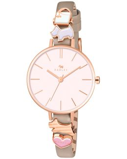Ry2408 Women's Time After Time Leather Strap Watch