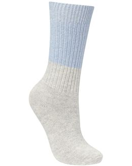 Cashmere Block Socks