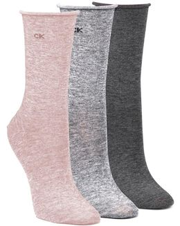 Roll Top Crew Socks