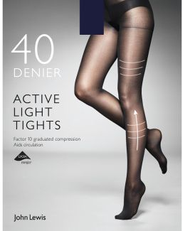 40 Denier Firm Support Active Light Opaque Tights