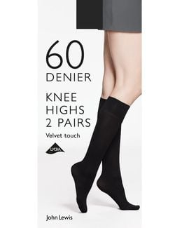 60 Denier Velvet Touch Knee High Socks