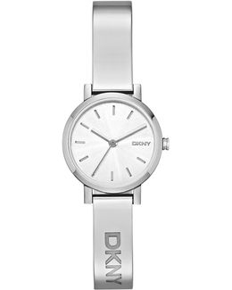 Women's Soho Silver Stainless Steel Bracelet Strap Watch