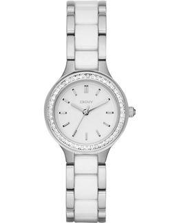 Ny2494 Women's Chambers Ceramic Link Bracelet Strap Watch
