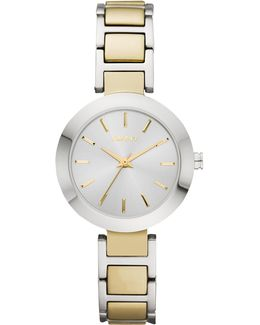 Ny2401 Women's Two Tone Stainless Steel Stanhope Bracelet Strap Watch