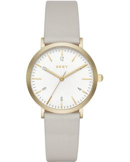Women's Minetta Leather Strap Watch