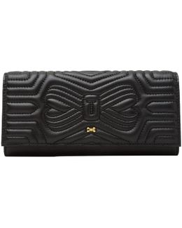 Quilted Bow Leather Matinee Purse