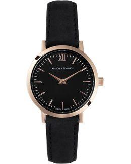Lgn26-l-h-q-p-rgb-o Women's Lugano Leather Strap Watch