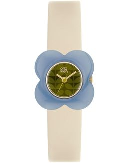 Women's Poppy Leather Strap Watch